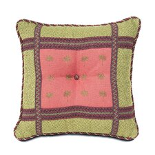 Tahiti Polyester Pindo Square Tufted Decorative Pillow