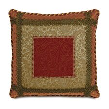 <strong>Eastern Accents</strong> Botham Polyester Straffan Cayenne Bordered Decorative Pillow