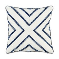 Ceylon Polyester Filly Decorative Pillow with Brush Fringe on Top