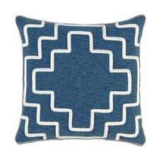 Ceylon Polyester Garrison Storm Decorative Pillow with Brush Fringe