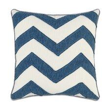 Ceylon Polyester Garrison Storm Chevron Decorative Pillow