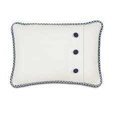 Ella Polyester Henley Cloud Decorative Pillow with Buttons