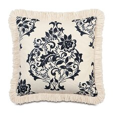 Evelyn Polyester Decorative Pillow with Brush Fringe