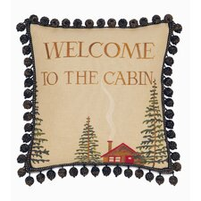 <strong>Eastern Accents</strong> Reynolds Polyester Welcome to The Cabin Decorative Pillow