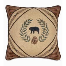 Reynolds Polyester Hand-Painted Bear Decorative Pillow