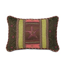 Tahiti Polyester Hand-Painted Sea Star Decorative Pillow
