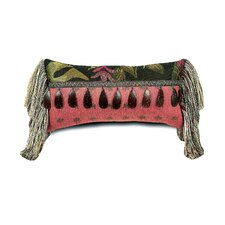 Tahiti Polyester Pindo Decorative Pillow with Beaded Trim