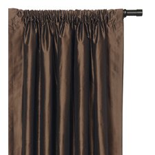 Freda Solid Tafetta Rod Pocket Curtain Single Panel