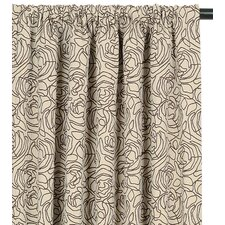 Tracery Cotton Rod Pocket  Curtain Single Panel
