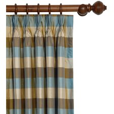 Kinsey Beckford Cotton Pleated Curtain Single Panel