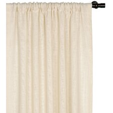 Rustique Burlap Rod Pocket Curtain Single Panel