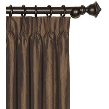 <strong>Eastern Accents</strong> Chester Pintucked Diamond Three-Finger Cotton Pleated Curtain Single Panel