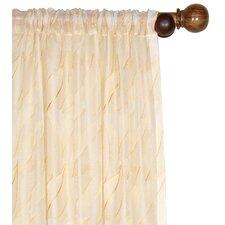 Collier Embroidered Sunshine Silk Rod Pocket Curtain Panel