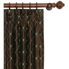 Rainier Embroidered Silk Pleated Curtain Single Panel