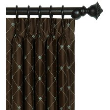 <strong>Eastern Accents</strong> Rainier Three-Finger Cotton Pleated Curtain Single Panel