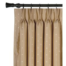 <strong>Eastern Accents</strong> Iris Embroidered Silk Three Finger Cotton Pleated Curtain Single Panel