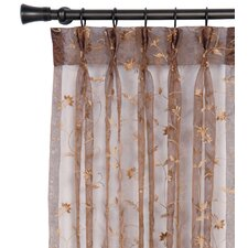 Alexia Embroidered Hazel Three-Finger Pleated Curtain Panel