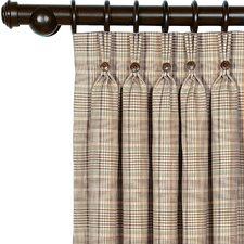 Kai Cotton Pleated Curtain Single Panel