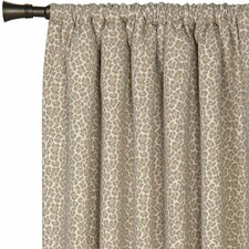 <strong>Eastern Accents</strong> Rayland Parrish Fawn Cotton Rod Pocket Curtain Single Panel