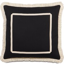 Evelyn Polyester Fullerton Ink Decorative Pillow with Brush Fringe
