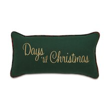 Home for The Holidays Days Til Christmas Decorative Pillow