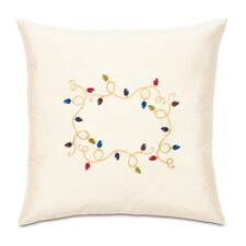 Candy Cane Loopy Lights Decorative Pillow