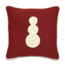 <strong>Eastern Accents</strong> Candy Cane Fluffy Snowman Decorative Pillow
