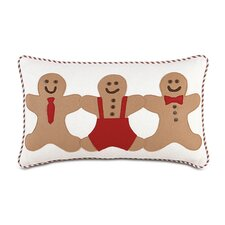 North Pole Gingerbread Men Decorative Pillow