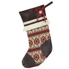 <strong>Eastern Accents</strong> Nordic Holiday Winter Woolies Stocking