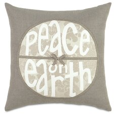 <strong>Eastern Accents</strong> Dreaming of a White Christmas Peace on Earth Pillow