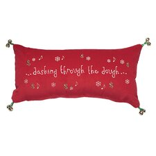 "<strong>Eastern Accents</strong> Phrase ""Dashing Through The Dough"" Pillow"