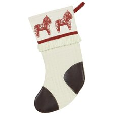 Nordic Holiday Dala Horse Stocking