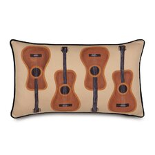 <strong>Eastern Accents</strong> Pinkerton Polyester Eli Guitars Decorative Pillow