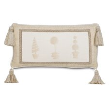 Brookfield Polyester Hand-Painted Topiary Decorative Pillow