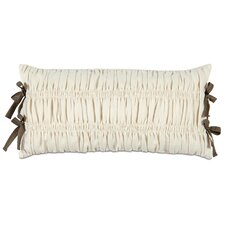 Daphne Polyester Breeze Decorative Pillow with Ribbon Ties