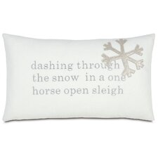 Tinsel Town One Horse Sleigh Pillow