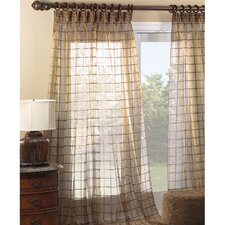 <strong>Eastern Accents</strong> Vaughan Veneta Cotton Pleated Embroidered Curtain Single Panel