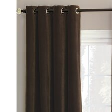Jackson Solid Velvet Cotton Grommet Curtain Single Panel