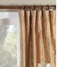 <strong>Eastern Accents</strong> Cecilia Embroidered Paisley Three-Finger Cotton Pleated Curtain Single Panel