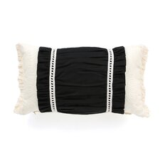 Evelyn Polyester Fullerton Ink Ruched Insert Decorative Pillow