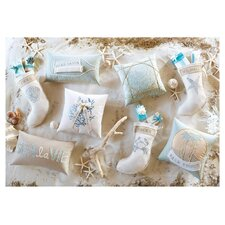 Coastal Tidings Wish List in a Bottle Decorative Pillow