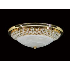 Asfour Lead Crystal Alabaster Flush Mount 939-15
