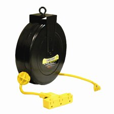 "12 AWG / 3 Cond x 40"", 15 AMP Triple Outlet Cord Reel"