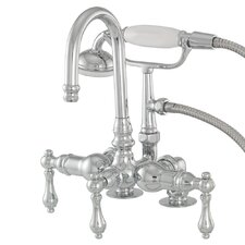 <strong>American Bath Factory</strong> 200 Series Solid Brass Bath Tub Faucet with Mounting Risers