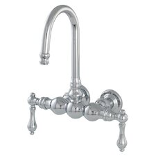 300 Series Double Handle Wall Mount Tub Only Faucet Trim with Straight Arms