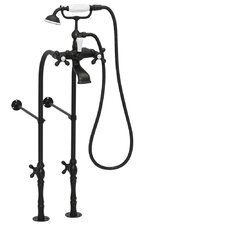 <strong>American Bath Factory</strong> 90 Series Double Handle Floor  Mount Clawfoot Tub Faucet