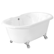 "<strong>American Bath Factory</strong> Celine 70"" x 32"" AcraStone Double Ended Bathtub with No Faucet Holes"