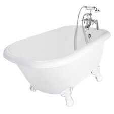 "<strong>American Bath Factory</strong> Jester 54"" x 30"" AcraStone Traditional Bathtub"