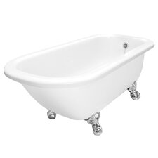 "Maverick 67"" x 30"" AcraStone Traditional Bathtub with No Faucet Holes"