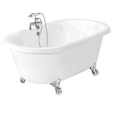"Melinda 60"" x 32"" AcraStone Double Ended Bathtub"
